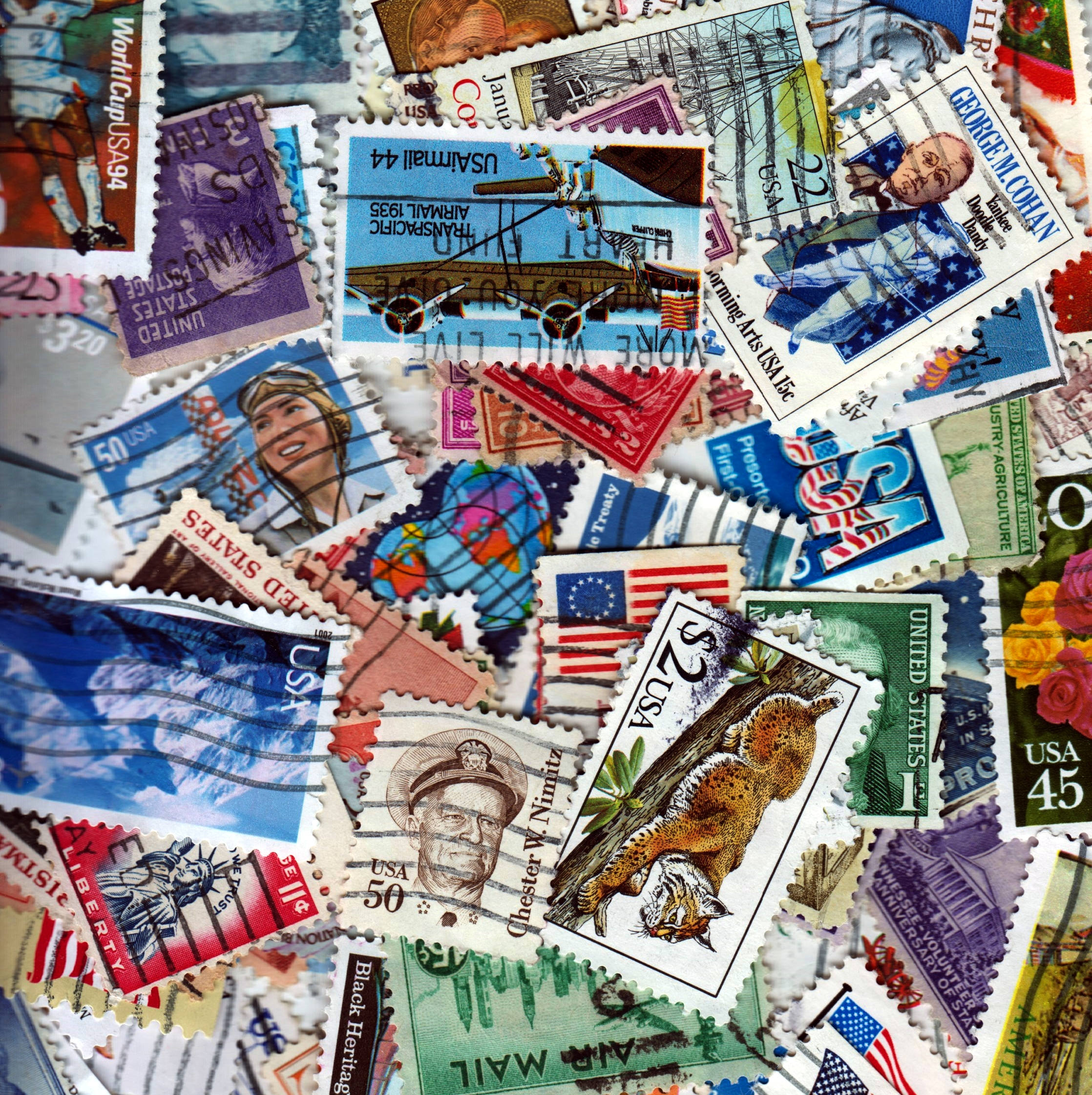 United States - 100 Different Used Stamps - Lot 4