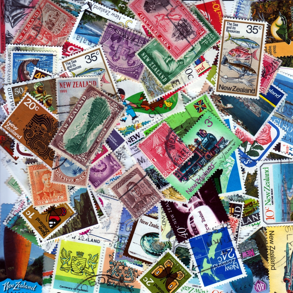New Zealand - 100 Different Used Stamps - Lot 1
