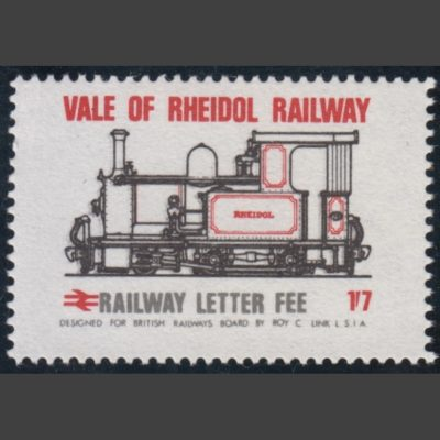 Vale of Rheidol Railway 1970 1s7d Definitive (U/M)