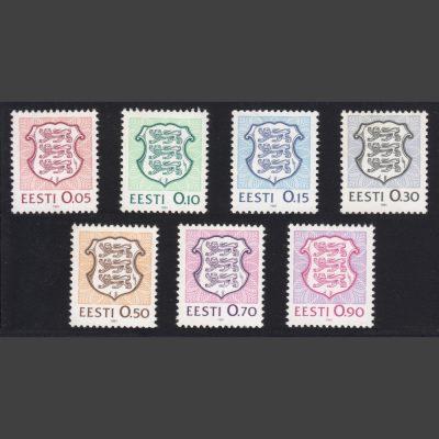 Estonia 1991 Low-Value Definitives (SG 161-167, U/M)