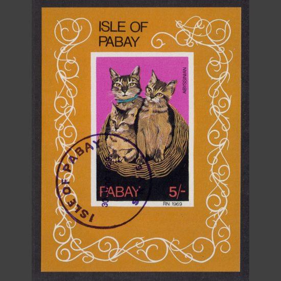 Pabay 1969 Cats Sheetlet (5s, CTO)