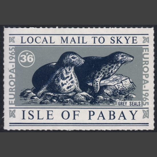 Pabay 1965 Europa Sheetlet - Seals (3s6d, U/M)