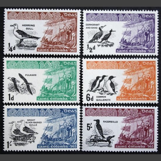 Carn Iar 1962 Birds and St Columba (6v, ¼d to 5s, U/M)
