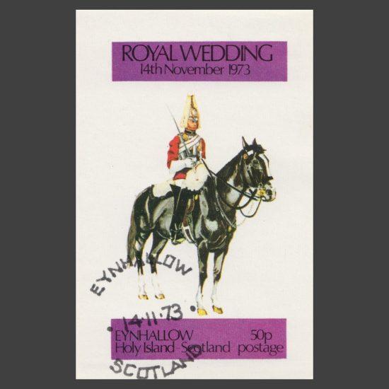 Eynhallow / Holy Island 1973 Royal Wedding Sheetlet (50p)