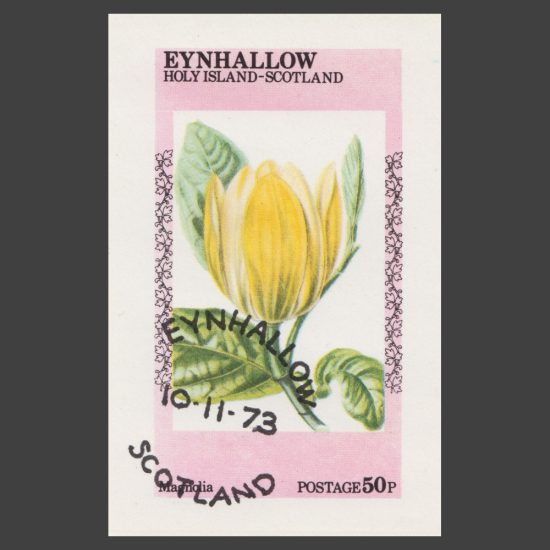 Eynhallow / Holy Island 1973 Flower Sheetlet (50p)