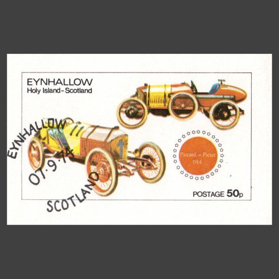 Eynhallow / Holy Island 1974 Cars Sheetlet (50p)