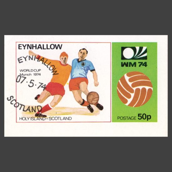 Eynhallow / Holy Island 1974 World Cup Sheetlet (50p)