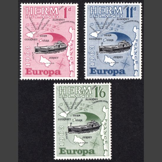 Herm Island1963 Europa (3v, 1d to 1s6d, U/M)
