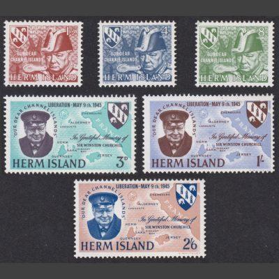 Herm Island1965 Liberation Anniversary (6v, 4db to 2s6d, U/M)