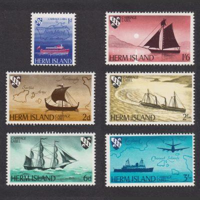 Herm Island1969 Ship Definitives (6v, 1d to 3s, U/M)