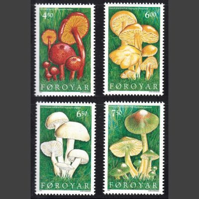 Faroe Islands 1997 Fungi (SG 323-326, U/M)