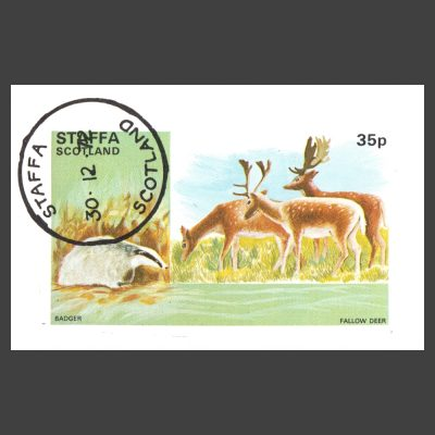 Staffa 1972 Animals Sheetlet (35p, CTO)