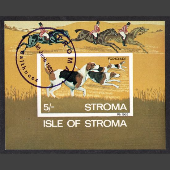Stroma 1969 Foxhounds Sheetlet (5s, CTO)