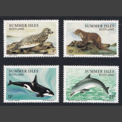 Summer Isles 1983 Sea Mammals (4v, 5p to 25p, U/M)