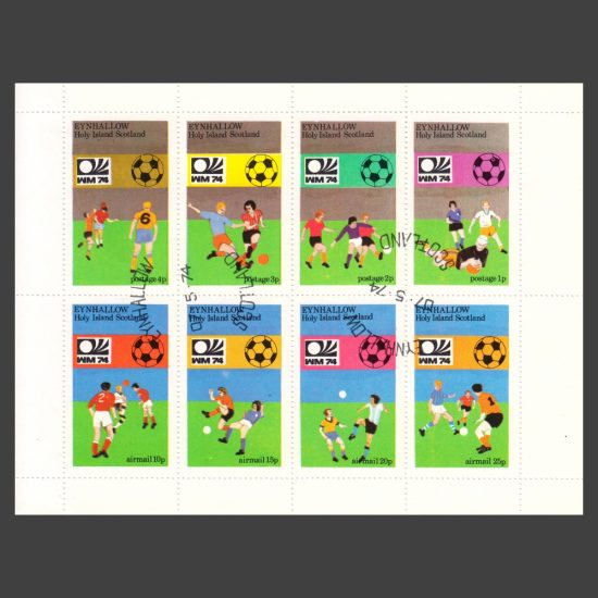 Eynhallow / Holy Island 1974 World Cup (8v, 1p to 25p, CTO)