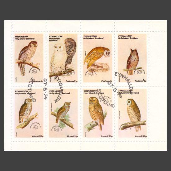 Eynhallow / Holy Island 1974 Owls (8v, ½p to 40p, CTO)