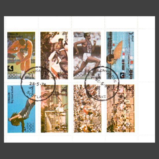 Eynhallow / Holy Island 1976 Olympics (8v, 1p to 25p, CTO)