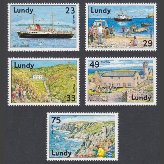 Lundy 1992 Discover Lundy (5v, 23p to 75p, M/M)