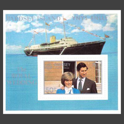 Bardsey 1981 Royal Wedding Miniature Sheet (50p, U/M)