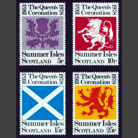 Summer Isles 1978 Silver Jubilee of Queen's Coronation (4v, 5p to 25p, U/M)
