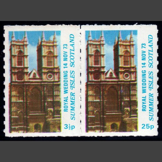 Summer Isles 1973 Royal Wedding (2v, 3½p and 25p, U/M)