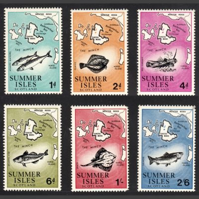 Summer Isles 1970 Fish and Maps Definitives (6v, 1d to 2s6d, U/M)