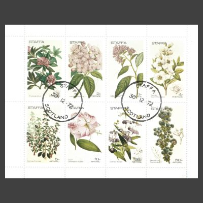 Staffa 1972 Flowers (8v, 1p to 50p, CTO)