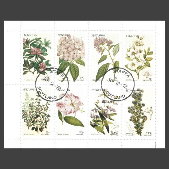 Staffa 1972 Flowers (8v, 1p to 50p, CTO)