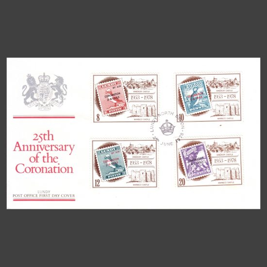 Lundy 1978 25th Anniversary of Coronation First Day Cover (FDC)