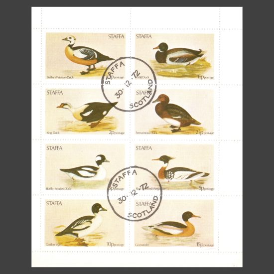 Staffa 1972 Ducks (8v, 1p to 15p, CTO)