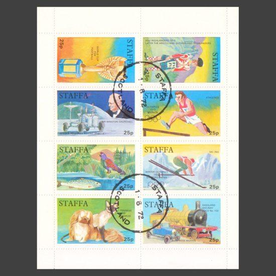 Staffa 1972 Pictorials (8v x 25p)