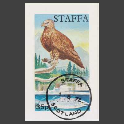Staffa 1972 Golden Eagle / Salmon Sheetlet (35p, CTO)