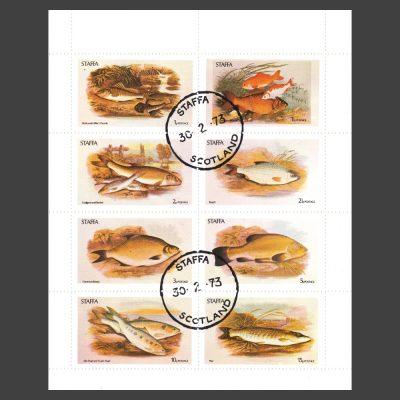 Staffa 1973 Fish (8v, 1p to 15p, CTO)