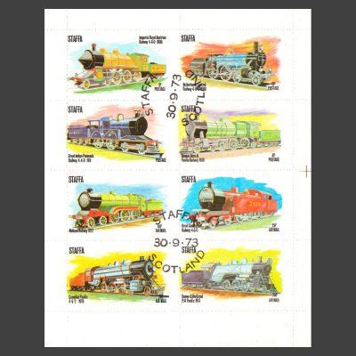 Staffa 1973 Early Railways (8v, 1p to 30p, CTO)
