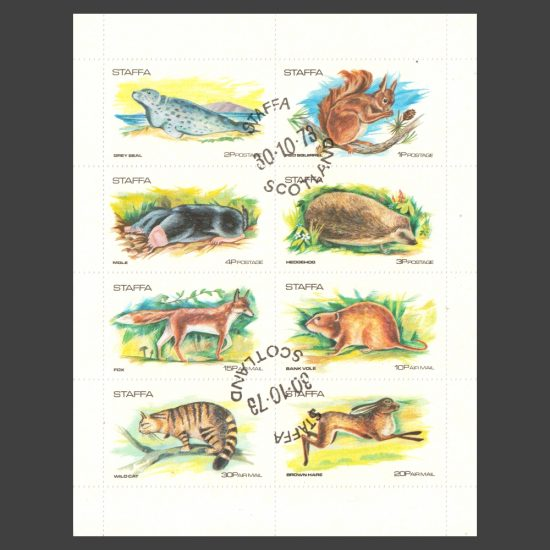 Staffa 1973 Highland Animals (8v, 1p to 30p, CTO)