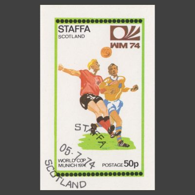 Staffa 1974 World Cup Sheetlet (50p, CTO)
