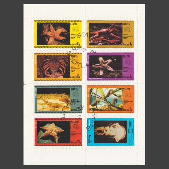 Staffa 1974 Sea Creatures / UPU (8v, 1p to 25p)