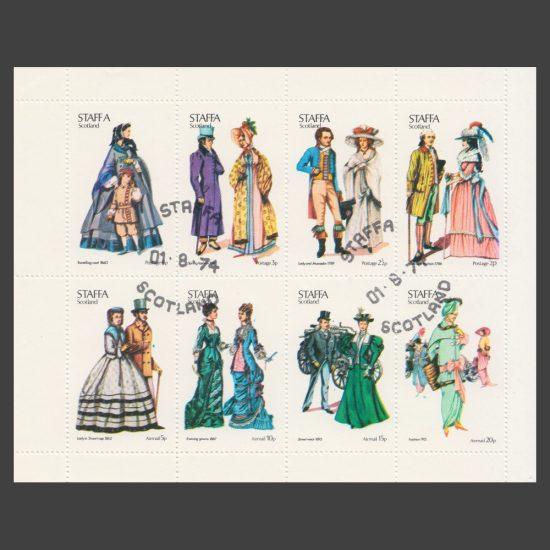 Staffa 1974 Costumes (8v, ½p to 20p, CTO)
