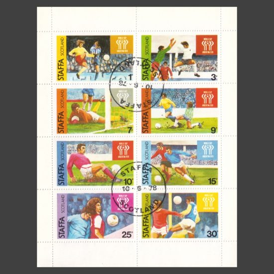 Staffa 1978 World Cup Argentina (8v, 1p to 30p, CTO)