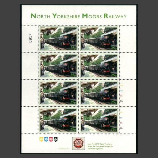 North Yorkshire Moors Railway 1996 Railway Letter Seminar Sheetlet (U/M)