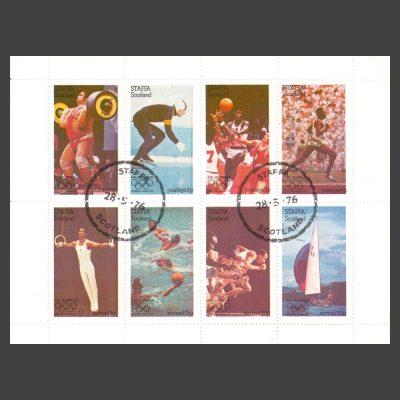 Staffa 1976 Montreal Olympics (8v, 1p to 25p, CTO)