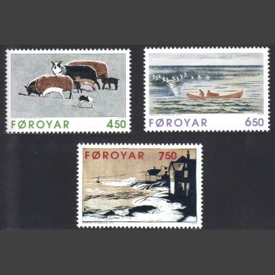 Faroe Islands 1996 Paintings by Janus Kamban (SG 315-317, U/M)