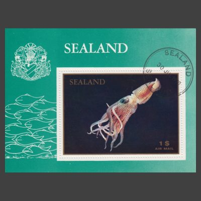 Sealand 1970 Squid Sheetlet ($1, CTO)