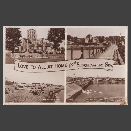 Postcard - Shoreham-by-Sea Real Photo Multiview by Valentine's, 1939