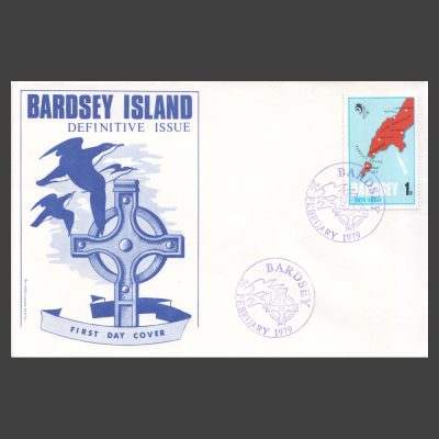 Bardsey 1979 1p Definitive on First Day Cover (FDC)