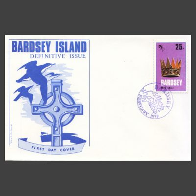 Bardsey 1979 25p Definitive on First Day Cover (FDC)