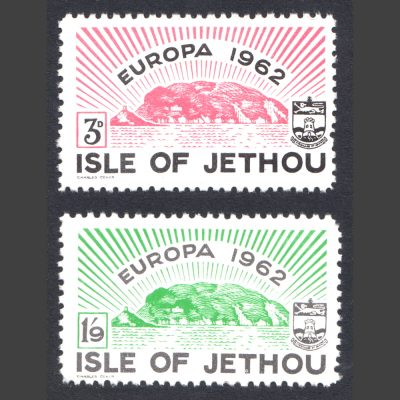 Isle of Jethou 1962 Europa Set (2v, 3d and 1s9d, U/M)