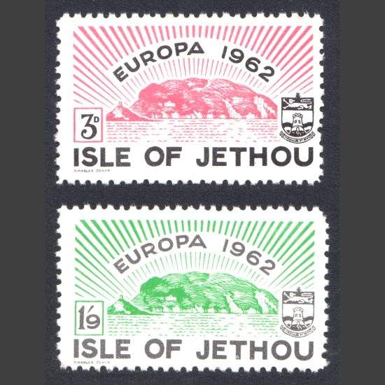 Isle of Jethou 1962 Europa Set (2v, 3d and 1s9d, U/M)
