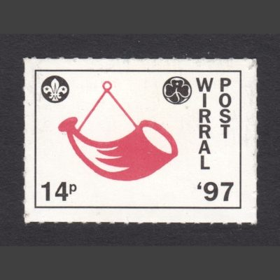 Wirral Scout & Guide Post 1997 14p Stamp (U/M)