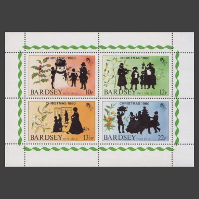 Bardsey 1980 Christmas Set in Sheetlet (4v, 10p to 22p, U/M)